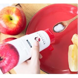 Tẩy tế bào chết từ táo đỏ Apple Beauskin Hàn quốc 150ml Hộp Và Mặt Nạ CollgenISK Beauskin 23ml Gói-3