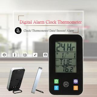Đồng hồ báo thức kĩ thuật số với màn hình hiển thị LCD , nhiệt độ độ ẩm
