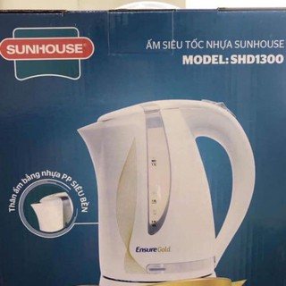 Bình đun siêu tốc Sunhouse 1.7 lít [ SHD1300 ] - ấm đun nước siêu tốc Ensure Gold 1850W có đèn LED 1700ml