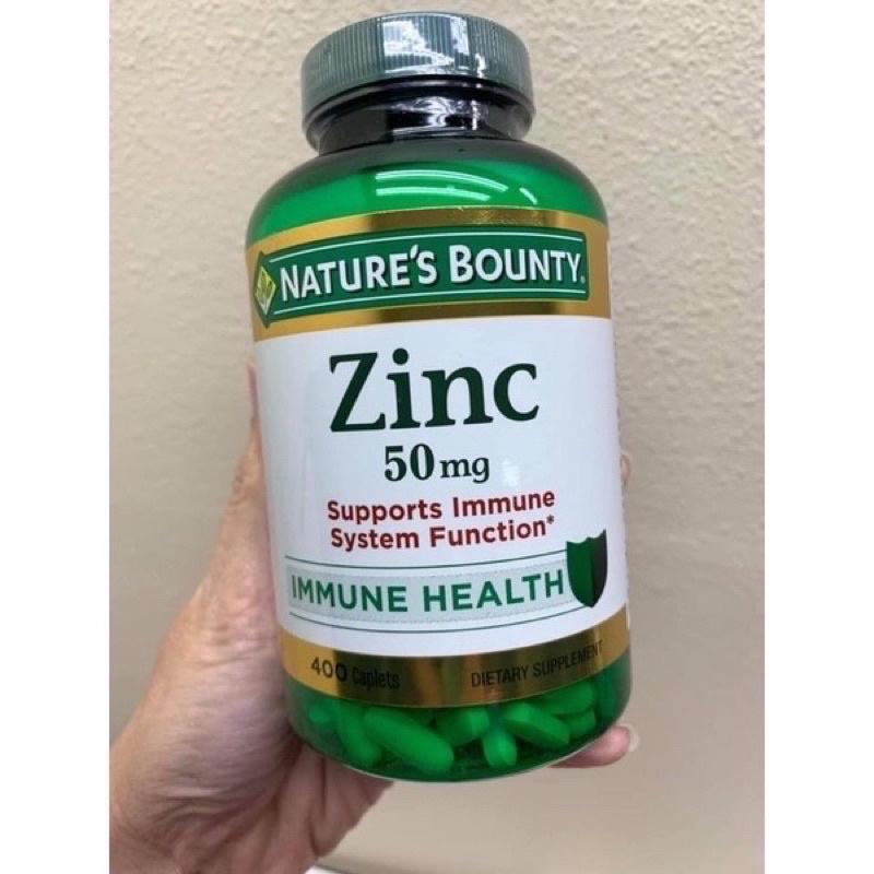 viên uống bổ sung kẽm Nature's Bounty Zinc 50mg