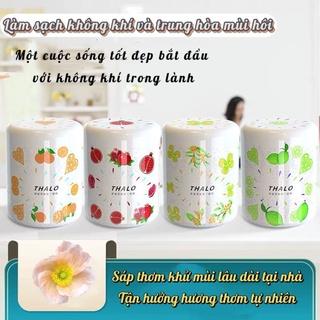 Sáp thơm phòng Thalo khử mùi phòng ngủ nhà vệ sinh toilet ô tô với 4 mùi thơm tự nhiên 90g