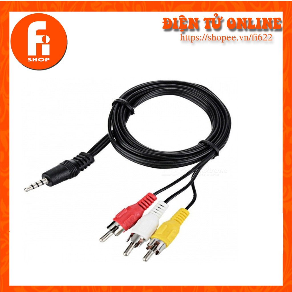 Cáp AV 1 Đầu Jack 3.5 Ra 3 Đầu Hoa Sen Cho TV Box