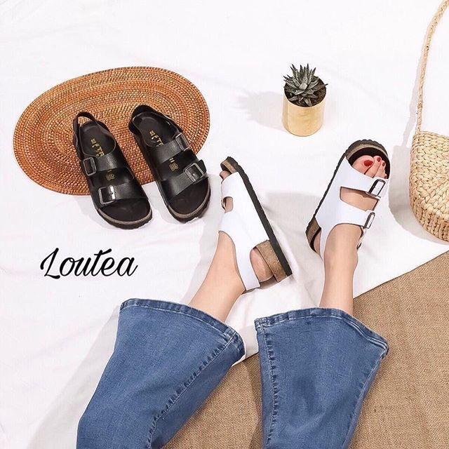 Sandal birken 130.000 Màu: đen, trắng Size: 35-39