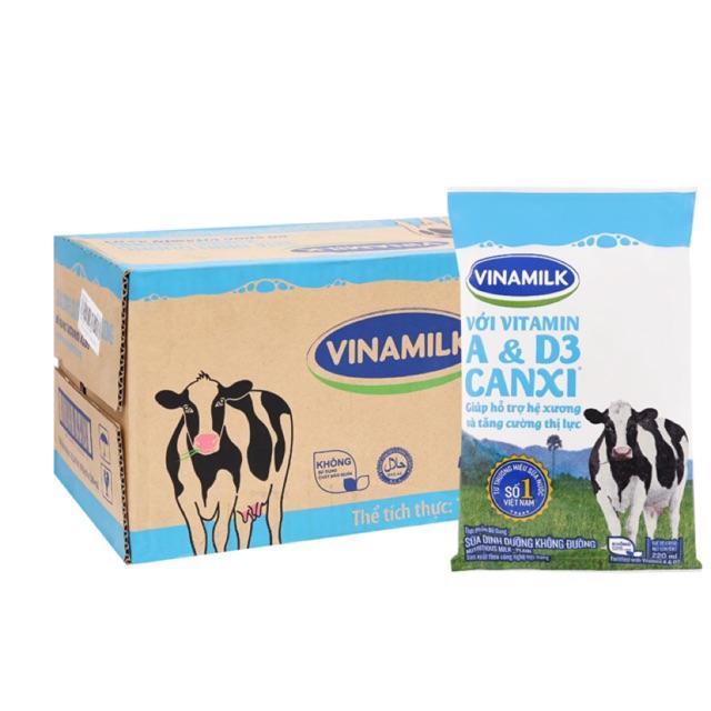 Thùng Sữa tươi Vinamilk- đủ vị (220ml x48bịch)