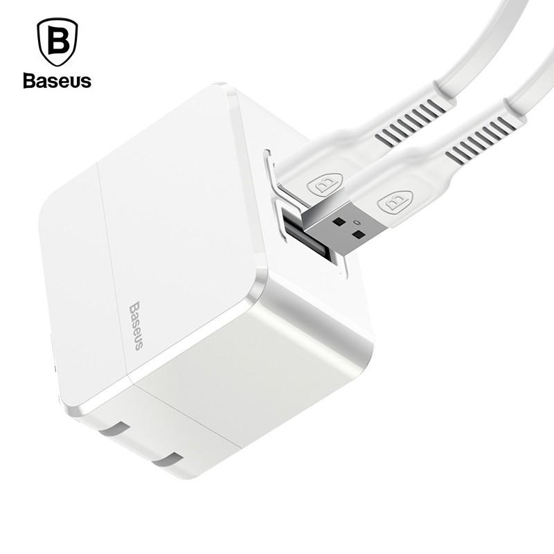 Bộ sạc kèm cáp Baseus COCO 2 cổng USB 2.4A tiện dụng