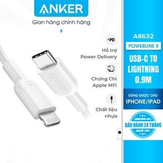 Cáp sạc ANKER PowerLine II Lightning to USB-C dài 0.9m - A8632 thumbnail