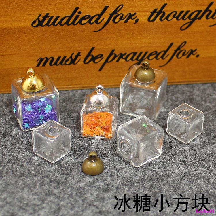wholesale newarrival diy jewelry accessories candy transparent cube glass handmade jewelry accessories free ma haybo01