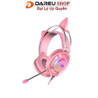 Tai nghe Dareu eh469 Pink Hồng – có tai mèo – LED RGB