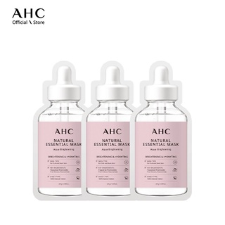 Mặt Nạ Dưỡng Trắng AHC Natural Essential Mask Aqua Brightening 28g (3 Miếng) thumbnail