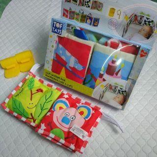 Sách vải dài treo cũi phát triển thị giác cho bé