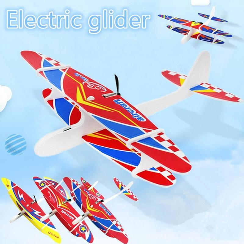 Hand Throwing Foam Aircraft USB Charging Aircraft Model Kids Toys