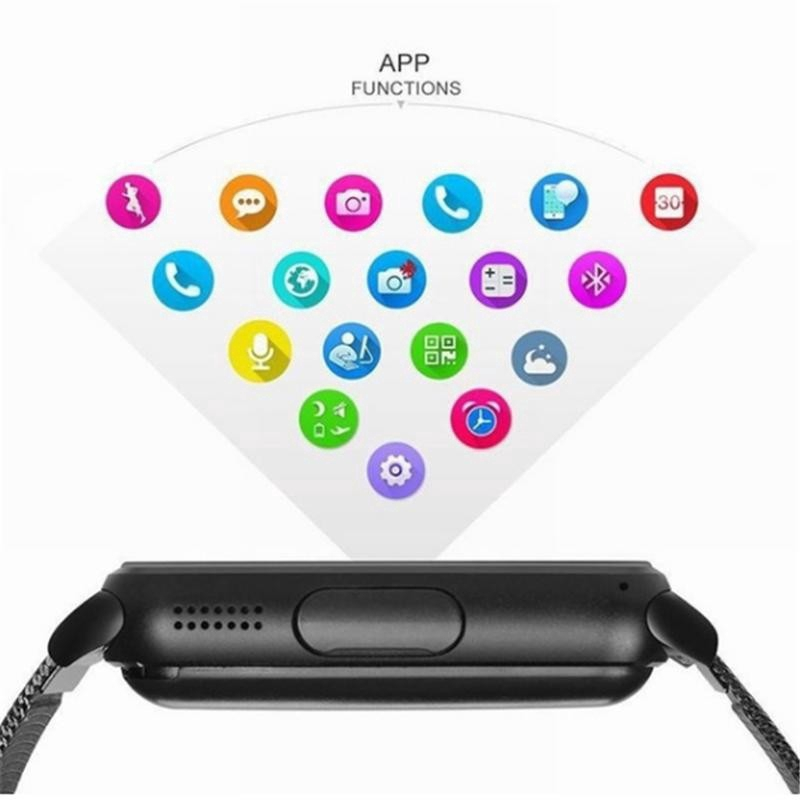 Đồng Hồ Thông Minh Hỗ Trợ Thẻ Sim / Tf Bằng Thép Không Gỉ Thời Trang Cho Ios Android