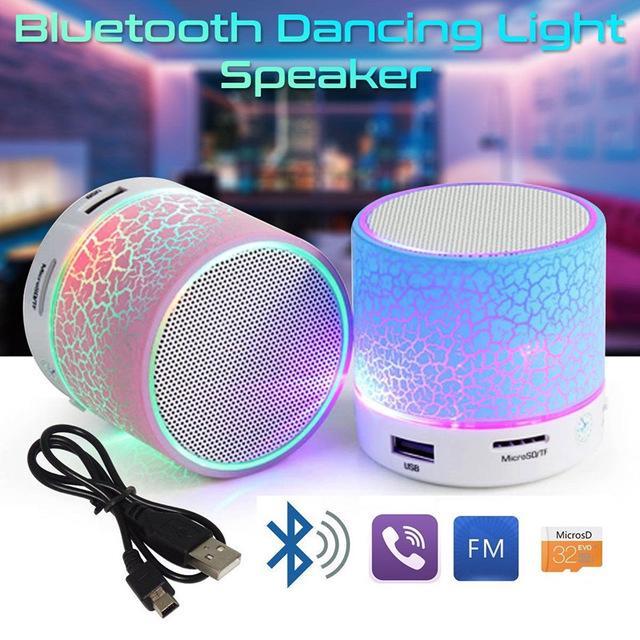 Loa Bluetooth Mini có đèn LED hỗ trợ cắm thẻ nhớ TF