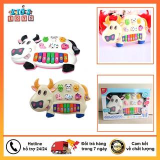 Đàn piano cho bé hình bò sữa, đồ chơi âm nhạc phát triển kĩ năng cơ bản, đồ chơi phát nhạc đầy đủ các nốt thumbnail