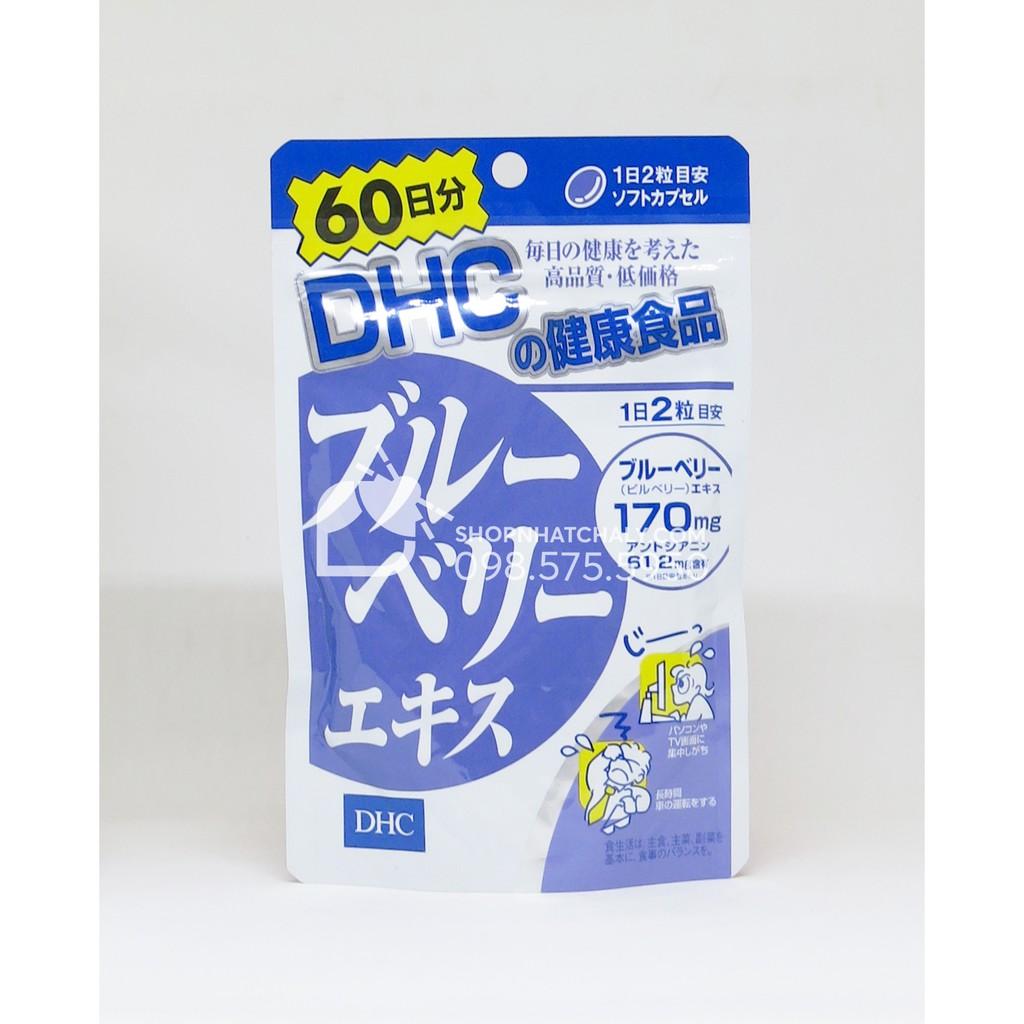 [DATE 2.2021] Viên việt quất blueberry extract bổ mắt, chống khô và lão hoá mắt DHC Nhật 120 viên [G
