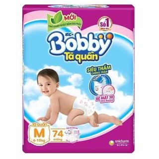 Tã quần Bobby bịch siêu đại M74 L68 XL62 XXL56 cho bé