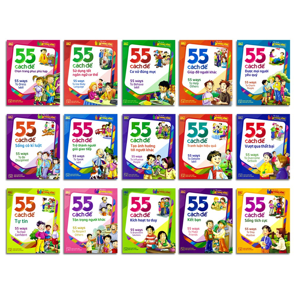 Sách - 55 Cách - Hoàn thiện kĩ năng sống (15 quyển, lẻ tùy