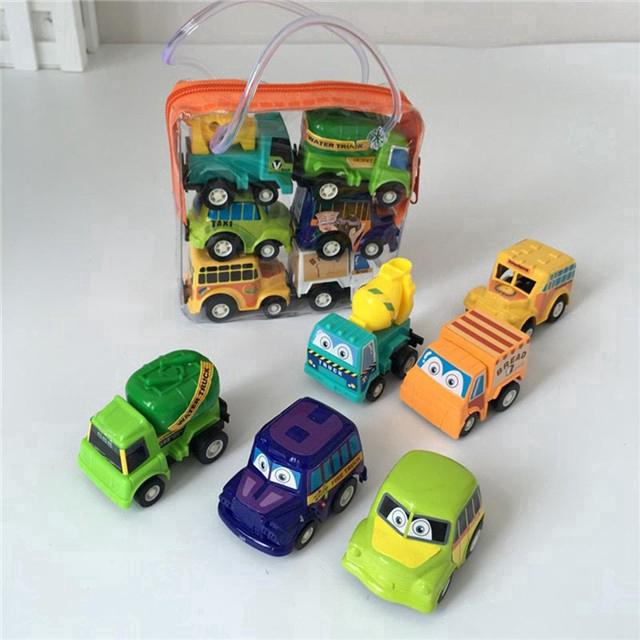 6pcs Mini Cute Truck Car Vehicles Kid Children Boy Toy Xmas Birthday Party Gift