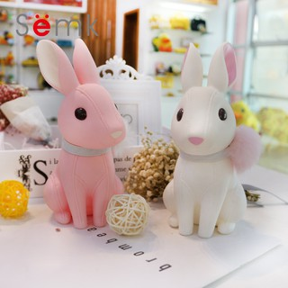Rabbit Piggy Bank Cartoon Silicone Doll Piggy Bank Gift Resin Crafts