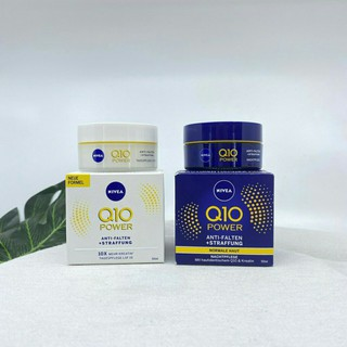 Cặp kem dưỡng da ngày đêm Nivea Q10 Power 50ml của Đức dưỡng da chuyên sâu, chống lão hóa.