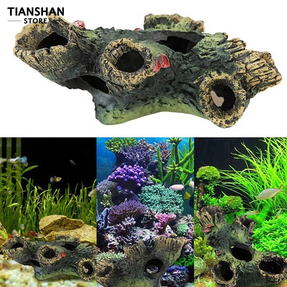 tianshanstore Resin Artificial Driftwood for Aquatic Pet Supply