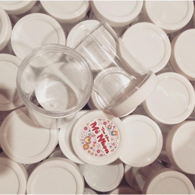 Hộp Mỹ nắp trắng răng cưa size 120ml/ 4 oz – hũ mica trong suốt đựng slime