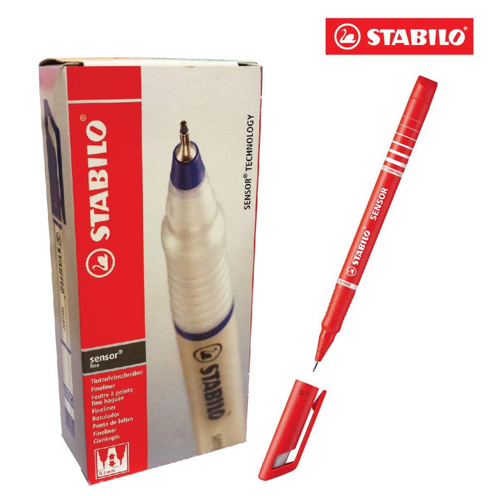 Hộp 10 cây bút kỹ thuật STABILO Sensor F (màu đỏ)