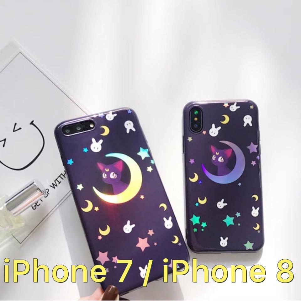 Ốp lưng laser phản sáng siêu dễ thương cho iPhone 7 / iPhone 8
