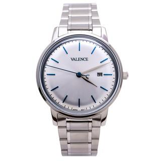 Đồng hồ nam VC-062 VALENCE Hàn Quốc dây thép (Bạc trắng)