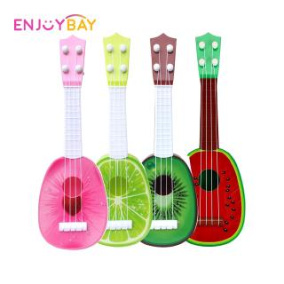 Cute Fruit Shape Guitar Toy Creative 4 String Ukulele Instrument Funny Musical Instrument Learning Kids Educational Toy