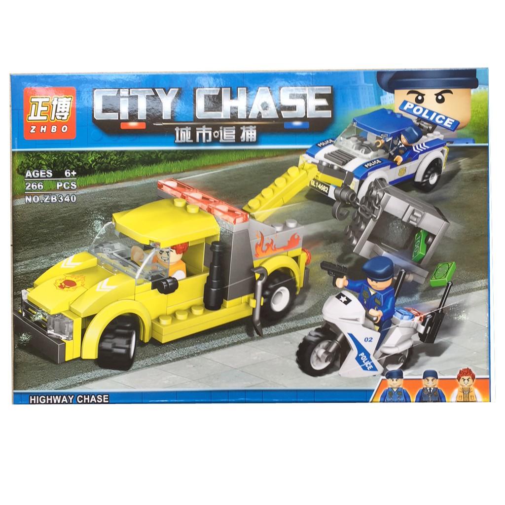 Lego xếp hình City Chase 266 pcs