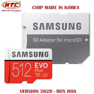 Thẻ nhớ MicroSDXC Samsung Evo Plus 512GB U3 4K R100MB s W90MB s - box Hoa New 2020 (Đỏ) + Kèm Adapter - Made in Korea thumbnail