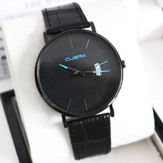 Đồng hồ nam CUENA CU1866 dây da siêu mỏng viền thép đẳng cấp doanh nhân thời thượng
