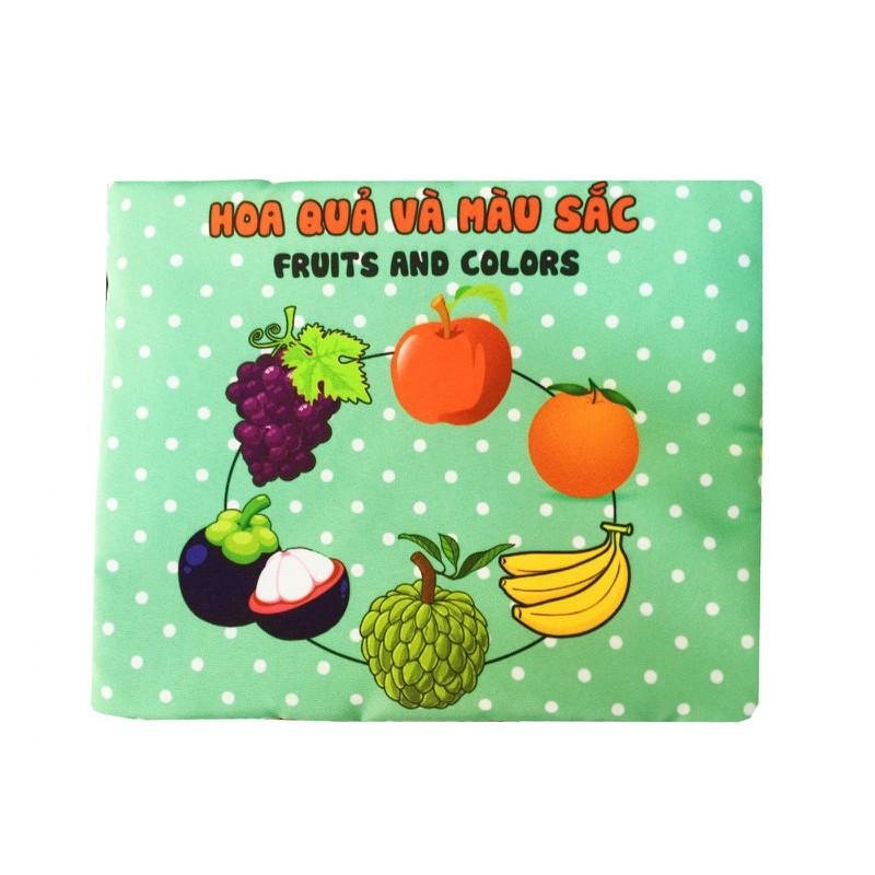 Sách vải cho bé PiPoVietnam - Kích thích thị giác chủ đề Hoa quả màu sắc