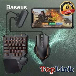 Bộ sản phẩm hỗ trợ chơi Game Baseus GAMO Mobile Game Suit (Combo Chuột, Bàn phím Cơ, Adaptor cho Liên Quân, Pubg) thumbnail