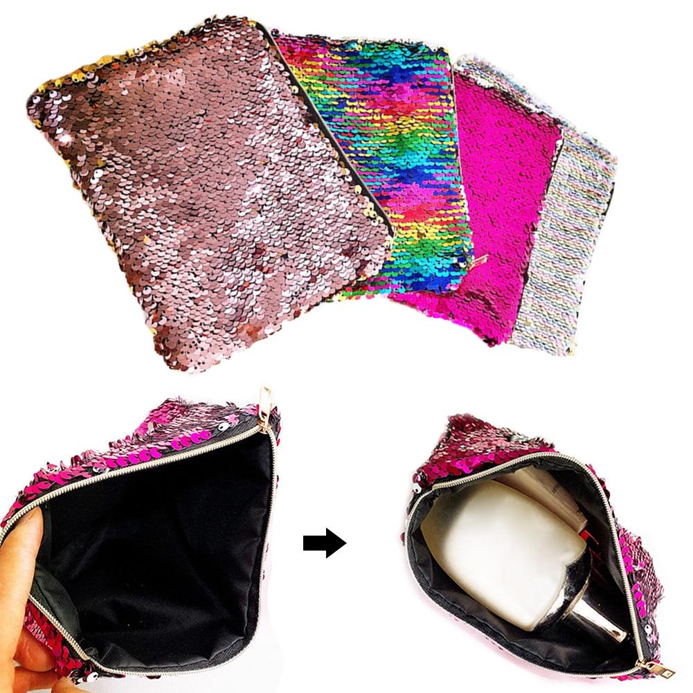 Clutch Multi Use Practical Fashion Portable Zipper Evening Party Shining Makeup Bag