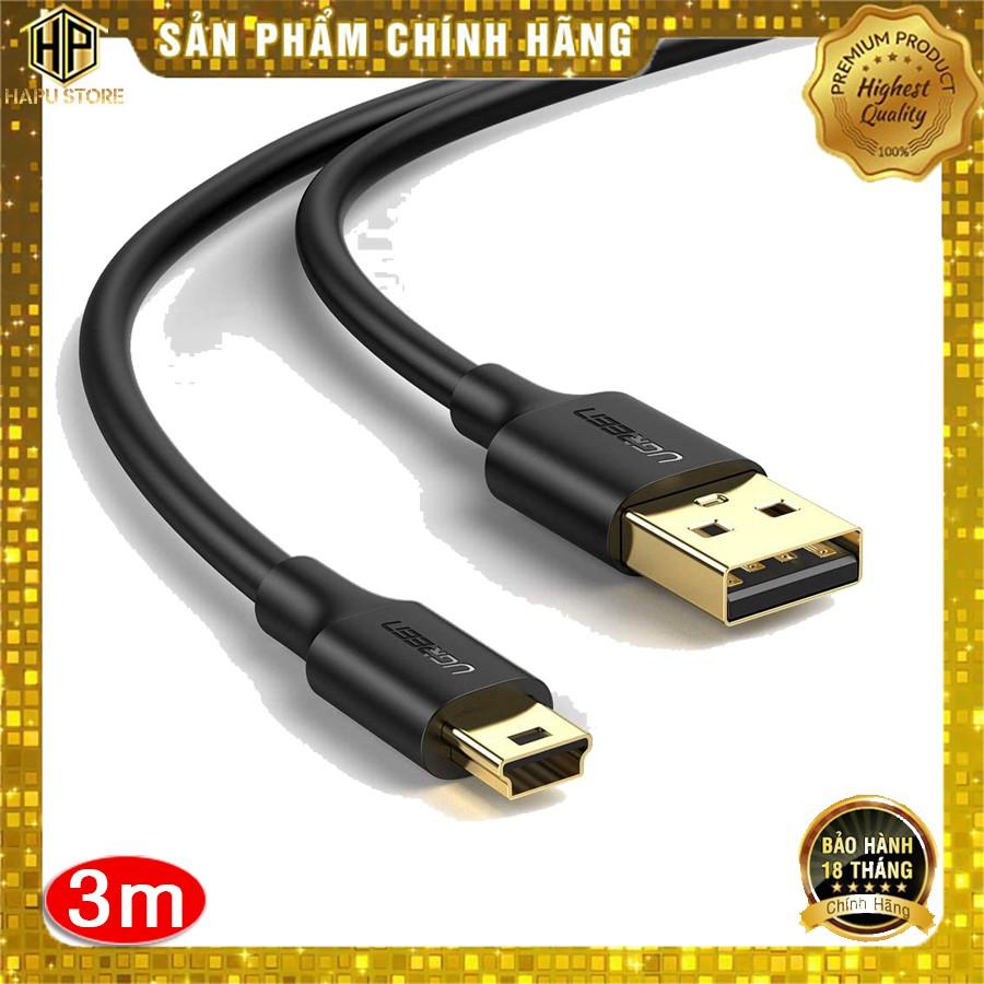 Cáp USB 2.0 to USB Mini Ugreen 10386 dài 3m mạ vàng chính hãng - Hapustore