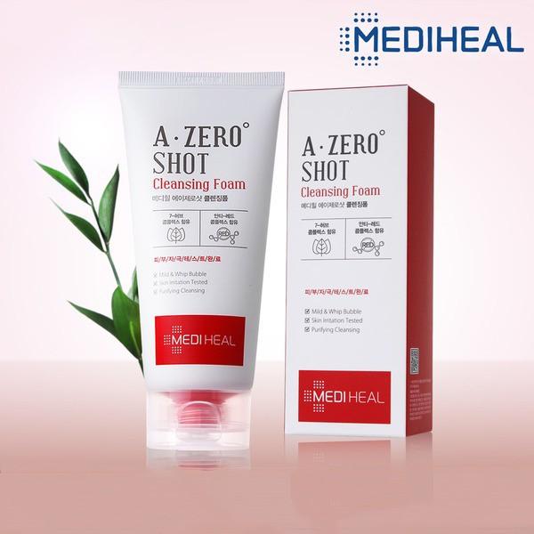 MEDIHEAL - Sứa rửa mặt làm sạch, diu da A-Zero Shot Cleansing Foam
