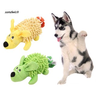SDWC Funny Pet Dog Puppy BB Vocal Sound Soft Bite Plush Toy Non-toxic Molar Doll