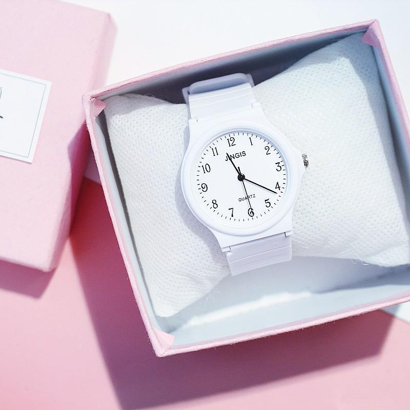 Đồng hồ nam nữ Jingis phong cách Hàn Quốc siêu đẹp DH83