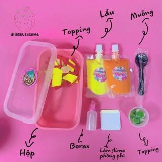 (Dilysetsyslime) Nồi Lẩu Tokbooki – Set kit làm slime