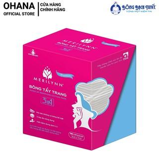 Bông Tẩy Trang Merilynn Premium 3 in1 - Bông Bạch Tuyết (120 miếng hộp)