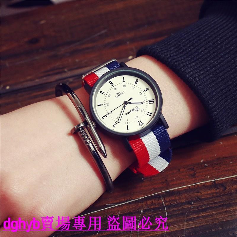 đồng hồ đeo tay nam nữ dây vải dù đơn giản