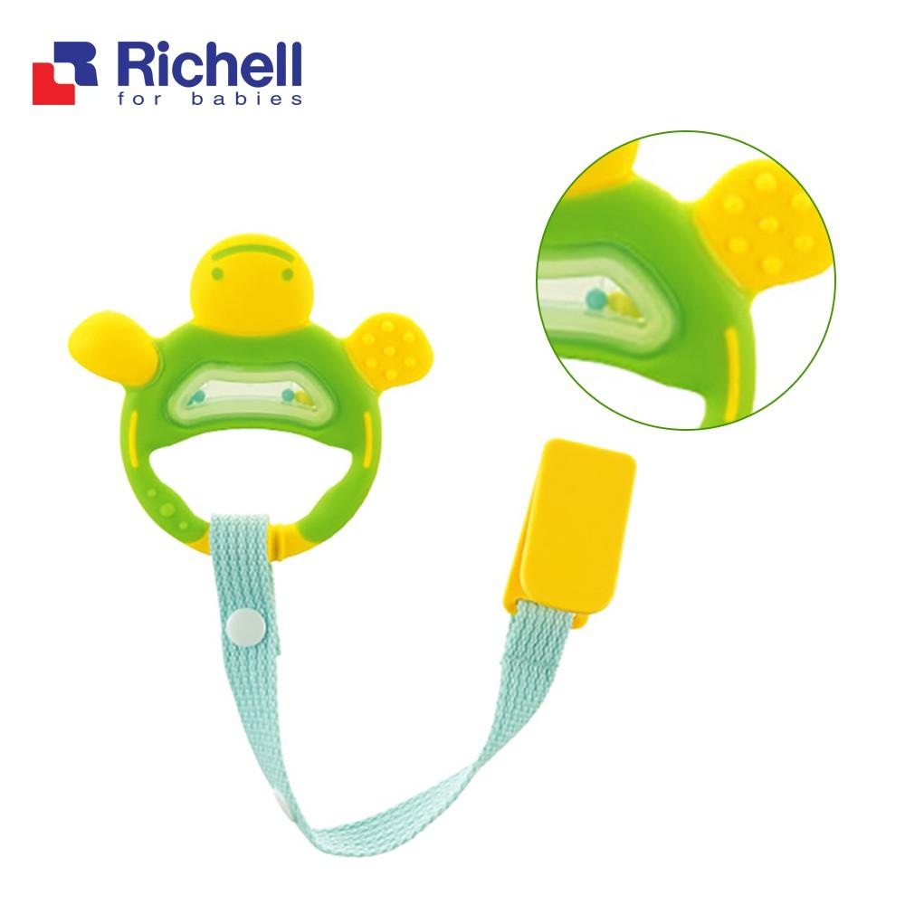 Gặm nướu xúc xắc tròn có dây đeo Richell cho bé (CHÍNH HÃNG) RC50341
