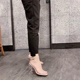 Bán sỉ gốc Giày sandal nữ cao gót 9p quai trong gót Ys trong bít gót sang dã man