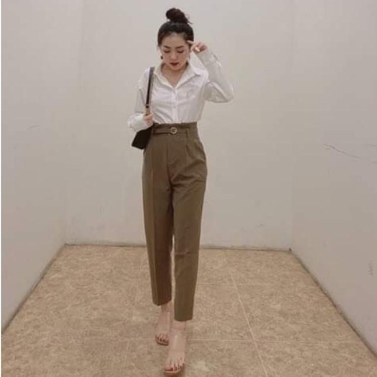 Mặc gì đẹp: Thời trang với Áo Sơ Mi Nữ vải lụa mềm,sơ mi nữ thoáng mát phong cách Hàn Quốc 2021