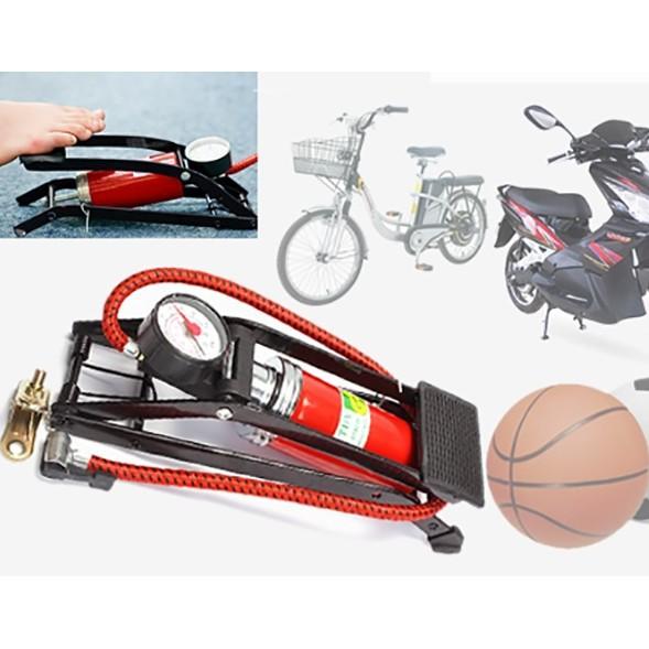 Ống bơm bánh xe máy, xe đạp dùng chân đạp