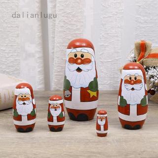 Búp Bê Nga Bằng Gỗ Hình Ông Già Noel Trang Trí Giáng Sinh