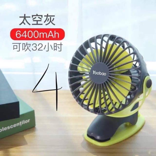 Image result for Quạt sạc Yoobao mini cầm tay di động 6400MAH