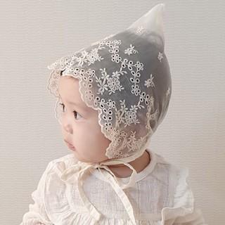 Mũ Bonnet ren tiểu thư phong cách Hàn Quốc cho bé gái 0-1 tuổi – Phụ kiện tóc – Phụ kiện chụp ảnh cho bé sơ sinh